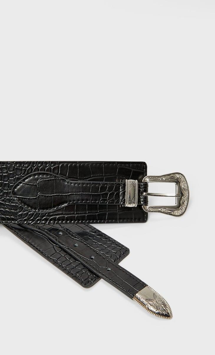 Wide cowboy belt