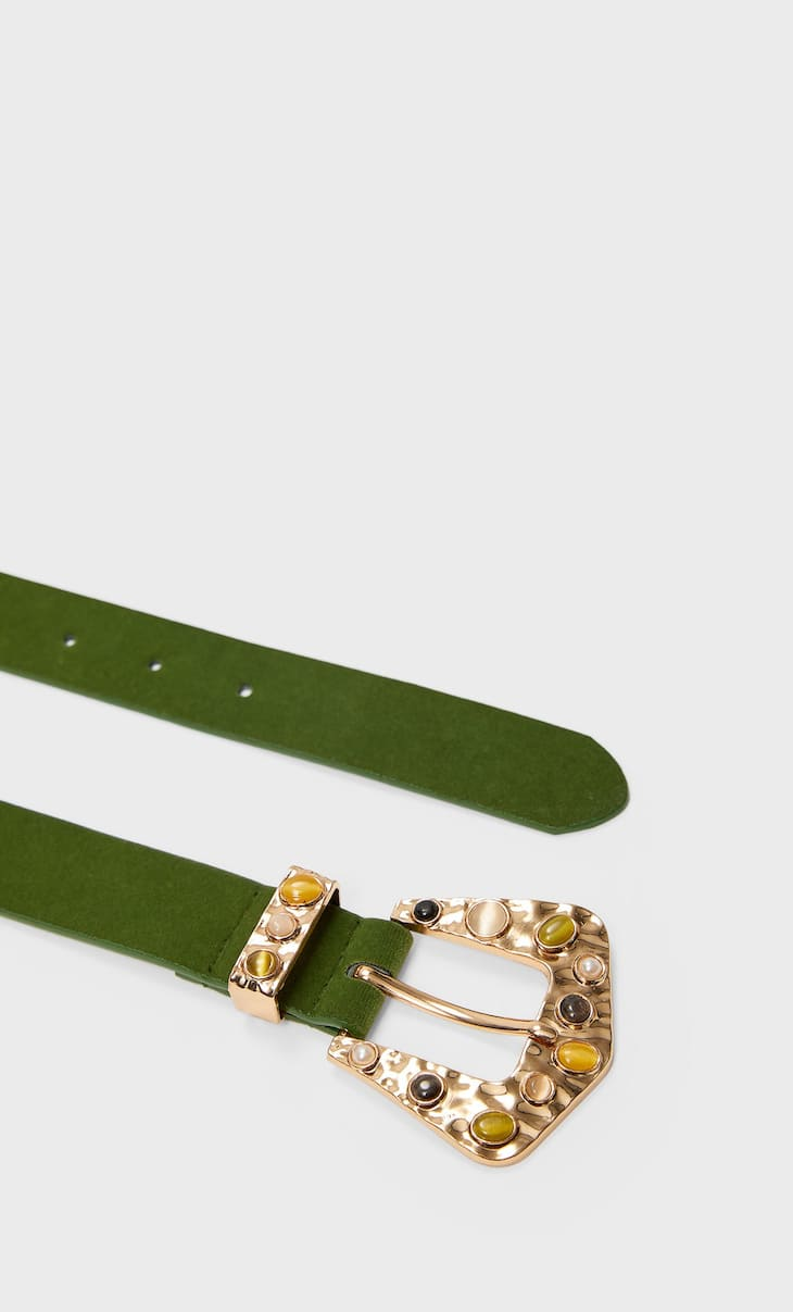 Belt with coloured stones