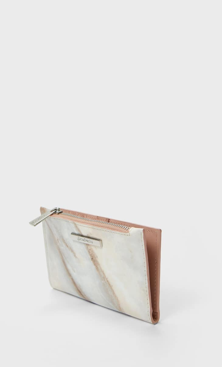 Basic marble effect purse