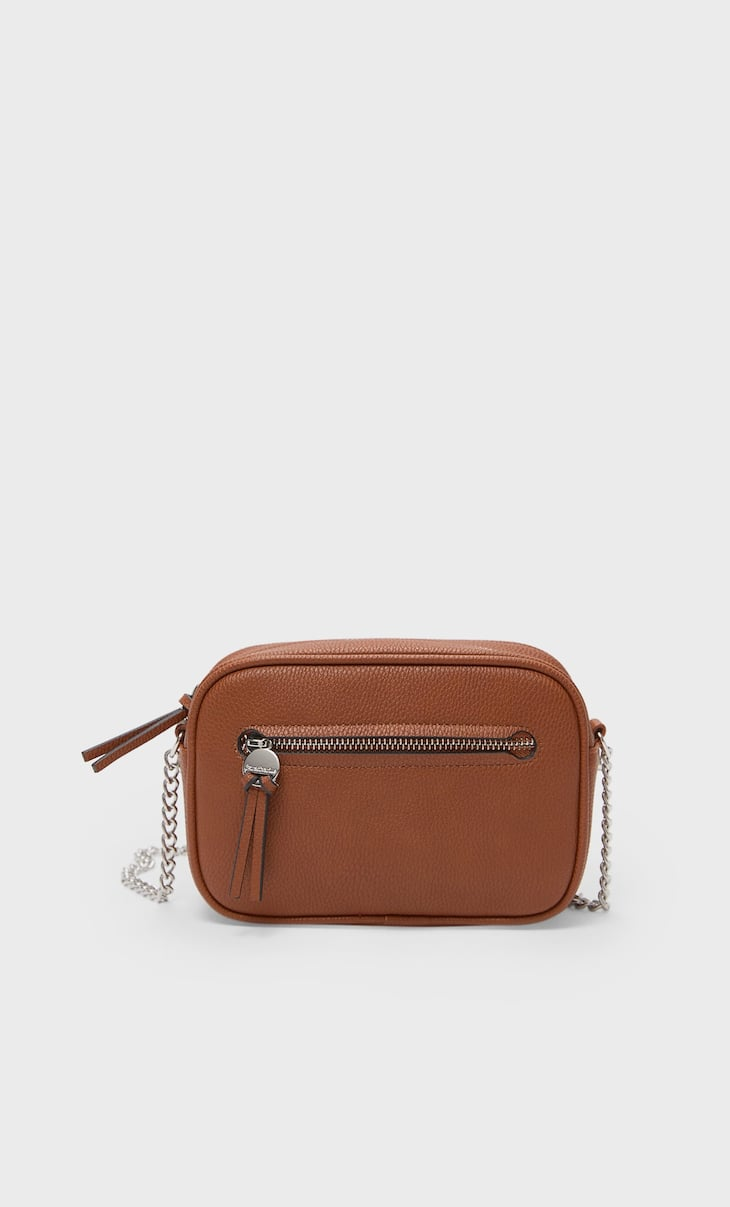 Crossbody bag with zip