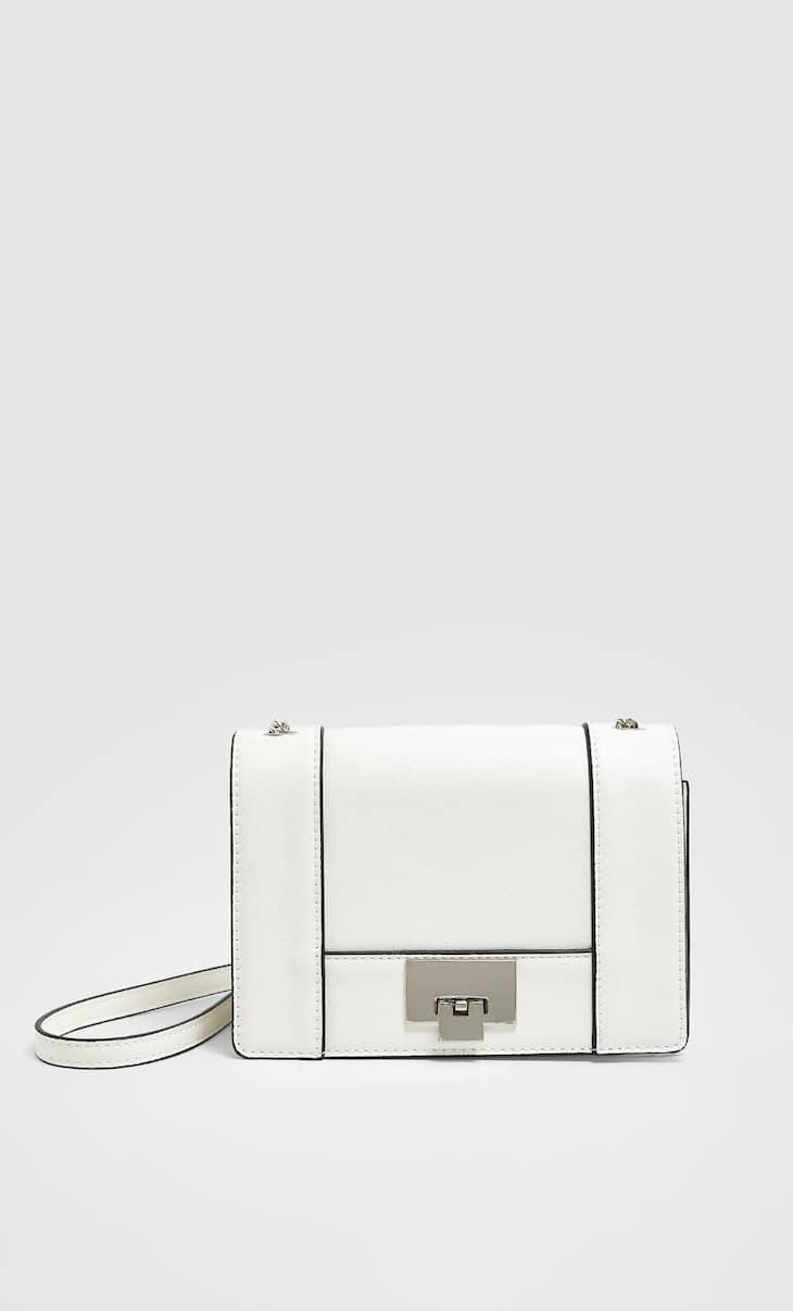 Mini crossbody bag with fastening detail