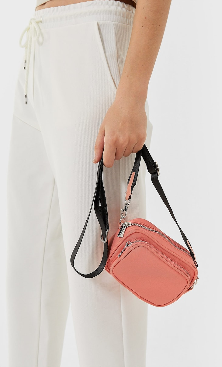 Fabric crossbody bag