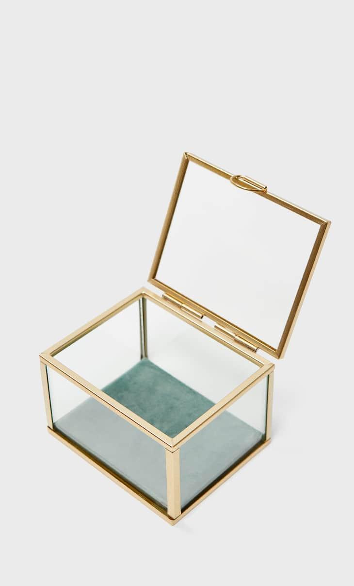 Velvet-lined box