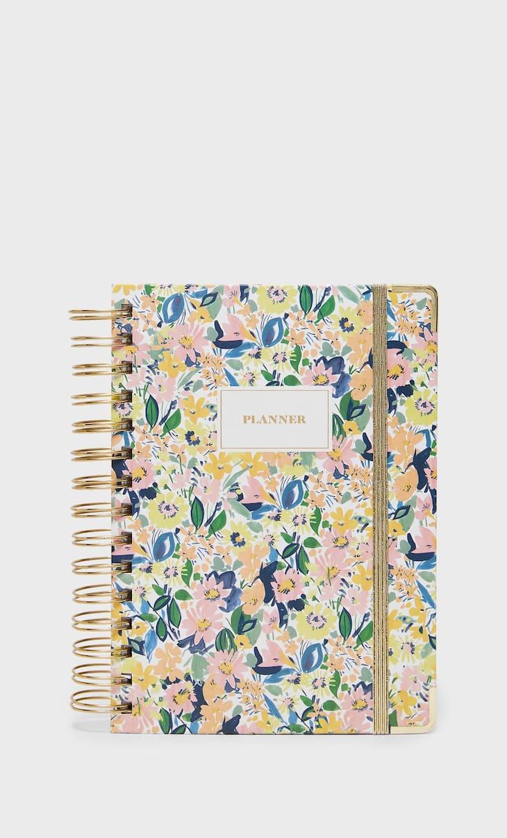 Premium planner bloemenprint
