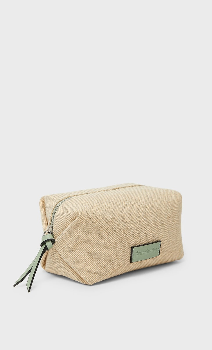 Colour canvas toiletry bag