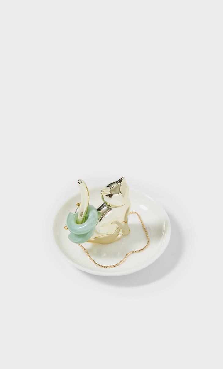Cat jewellery dish