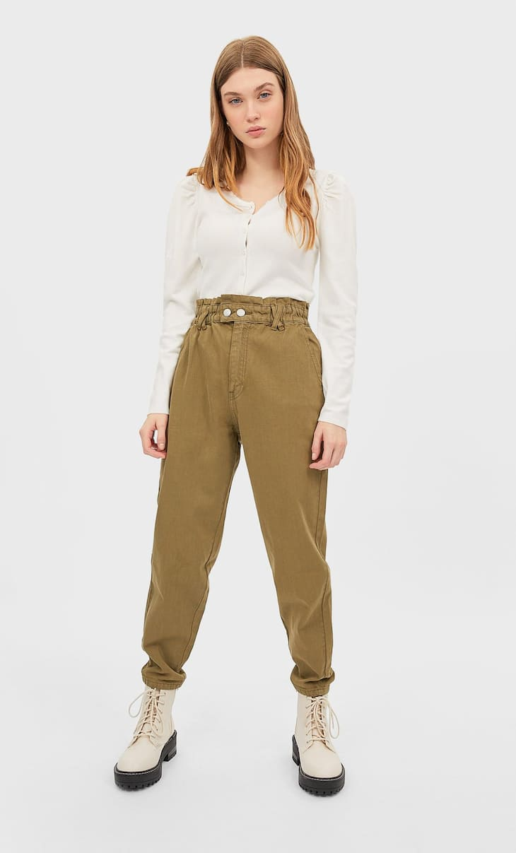 Jeans baggy in twill