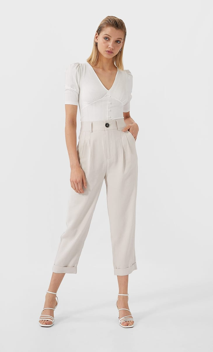 Slouchy flowing trousers