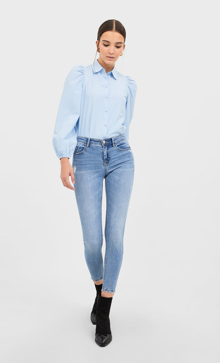 Jeans low waist rotos