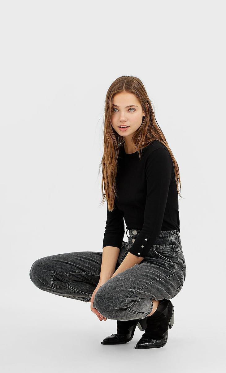 Basic stretch fit sweater