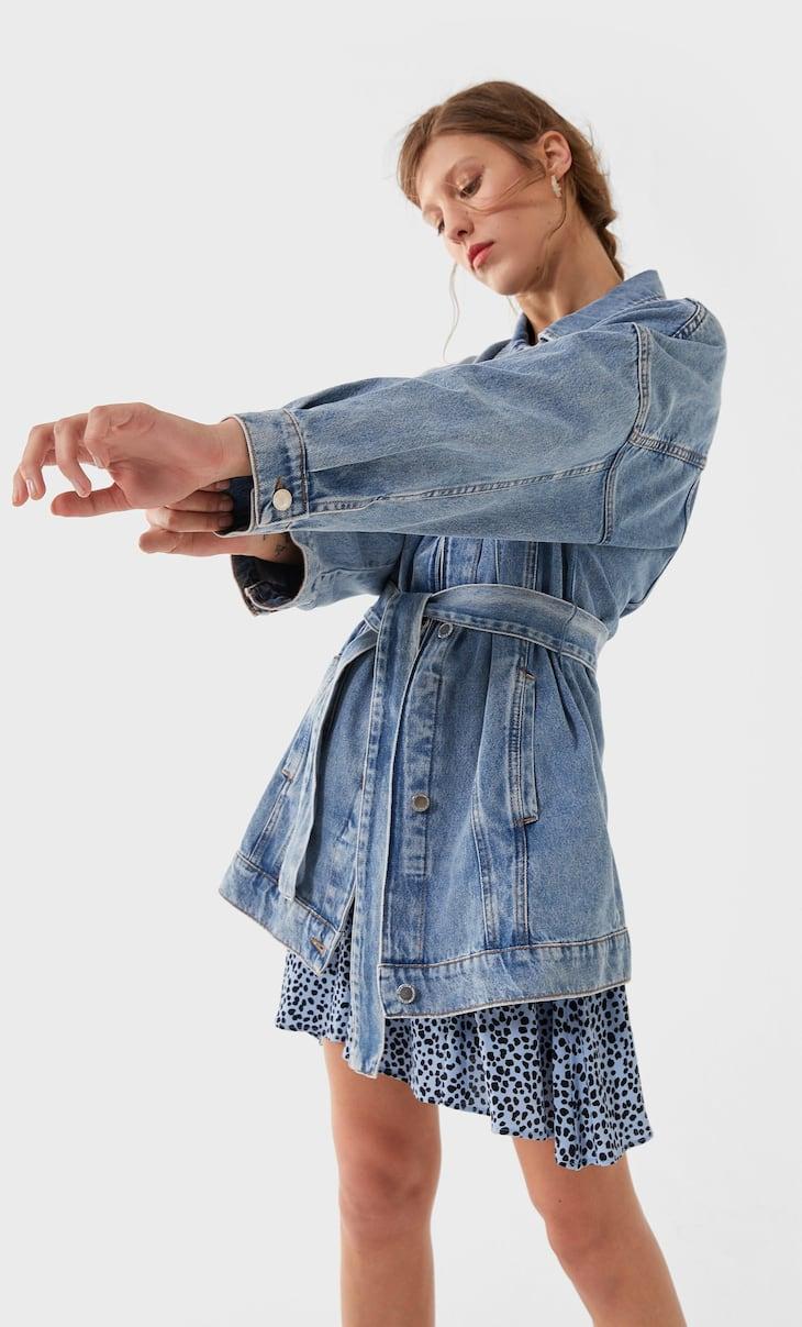 Denim jacket with belt