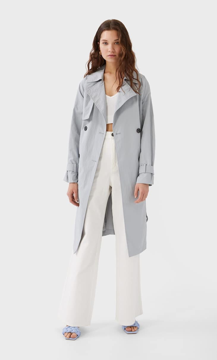 Oversize technical trench coat