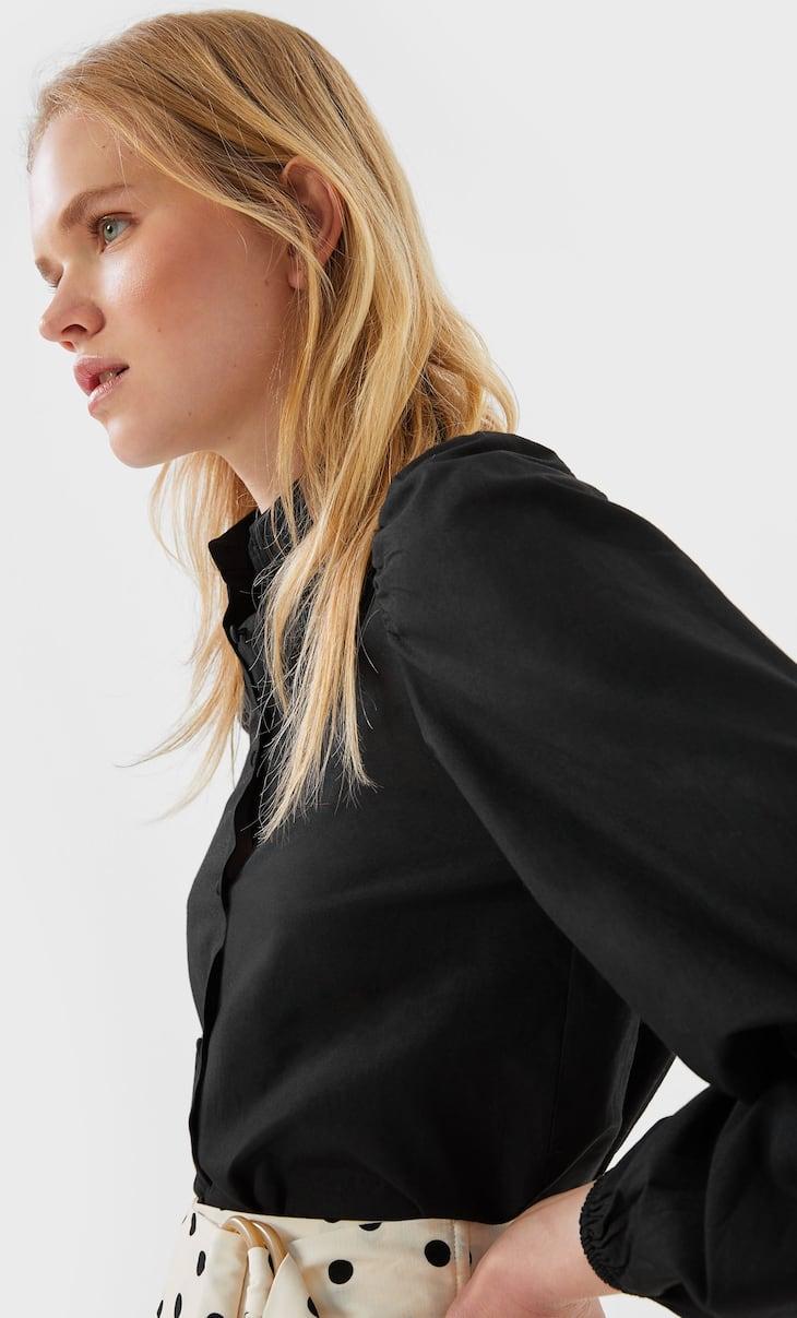 Camisa popelin manga abullonada
