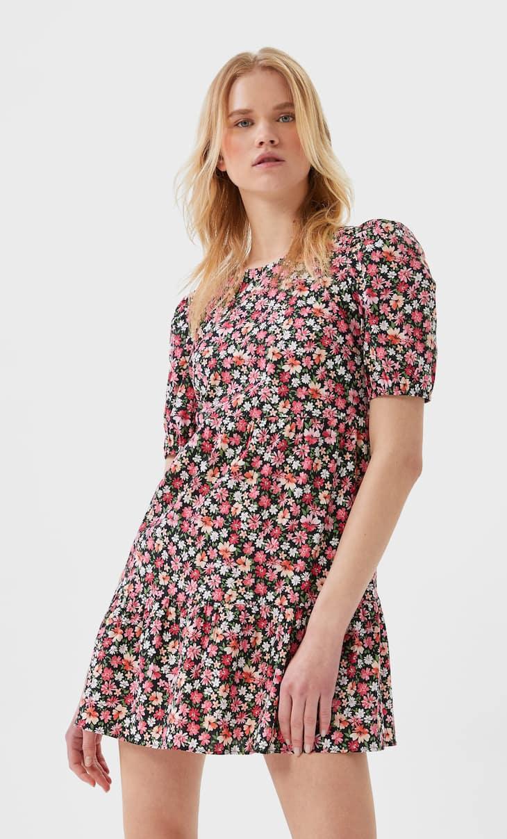 Платье из поплина с принтом