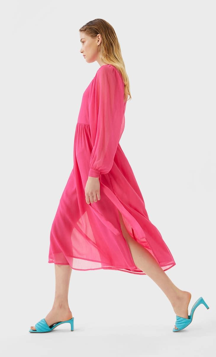 Μακρύ φόρεμα με κορδέλες
