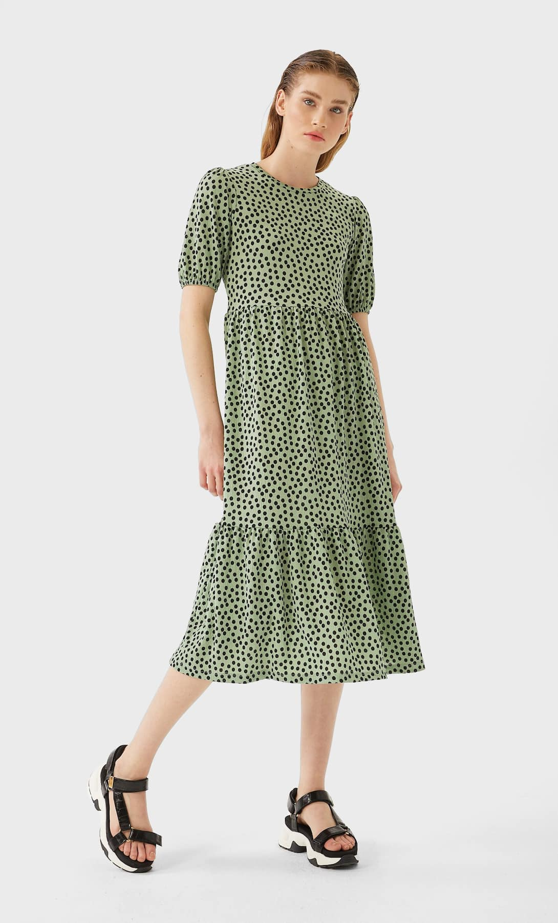 STR_Puff sleeve midi dress_2