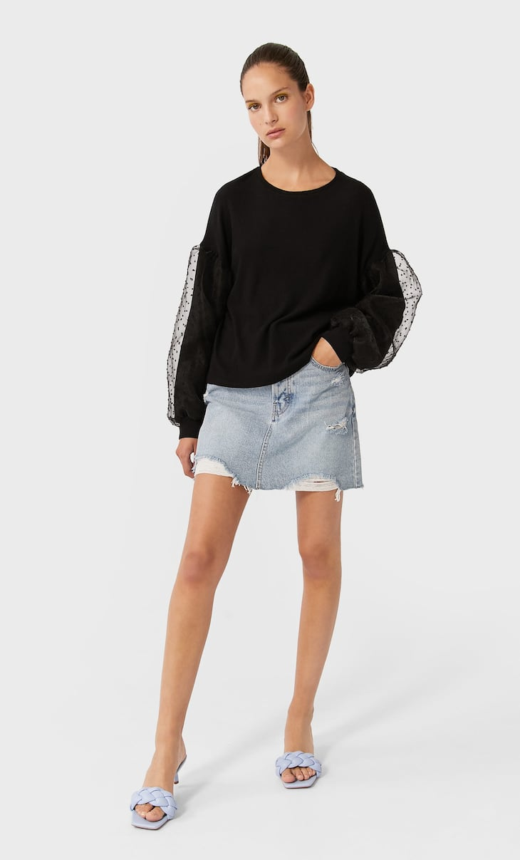 Puff-sleeve T-shirt