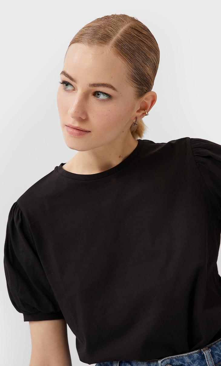 Shirt mit kurzen Ballonärmeln