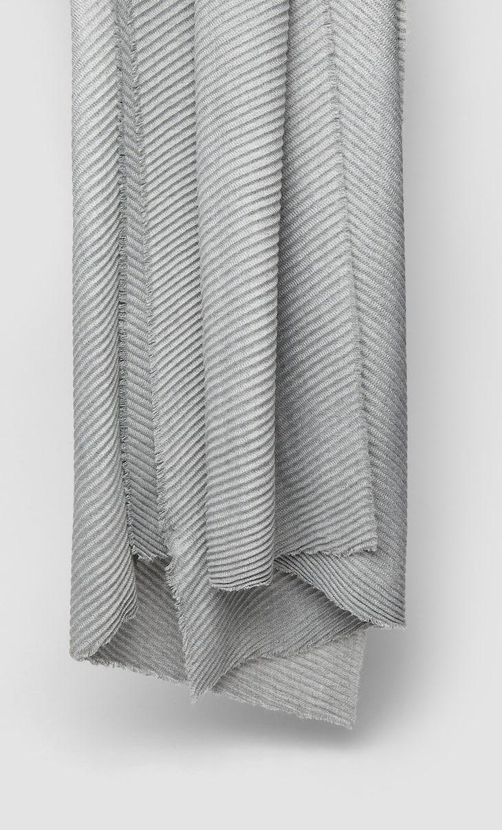 Weicher Plissée-Schal