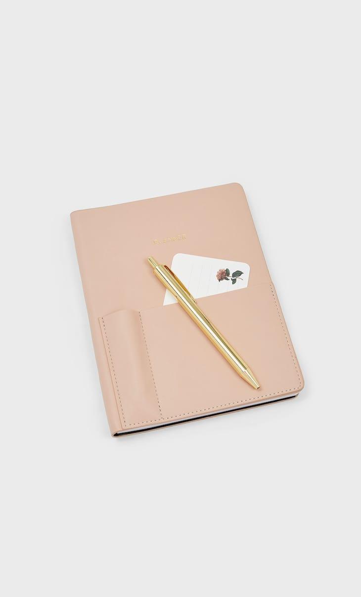 Planner con penna dorata