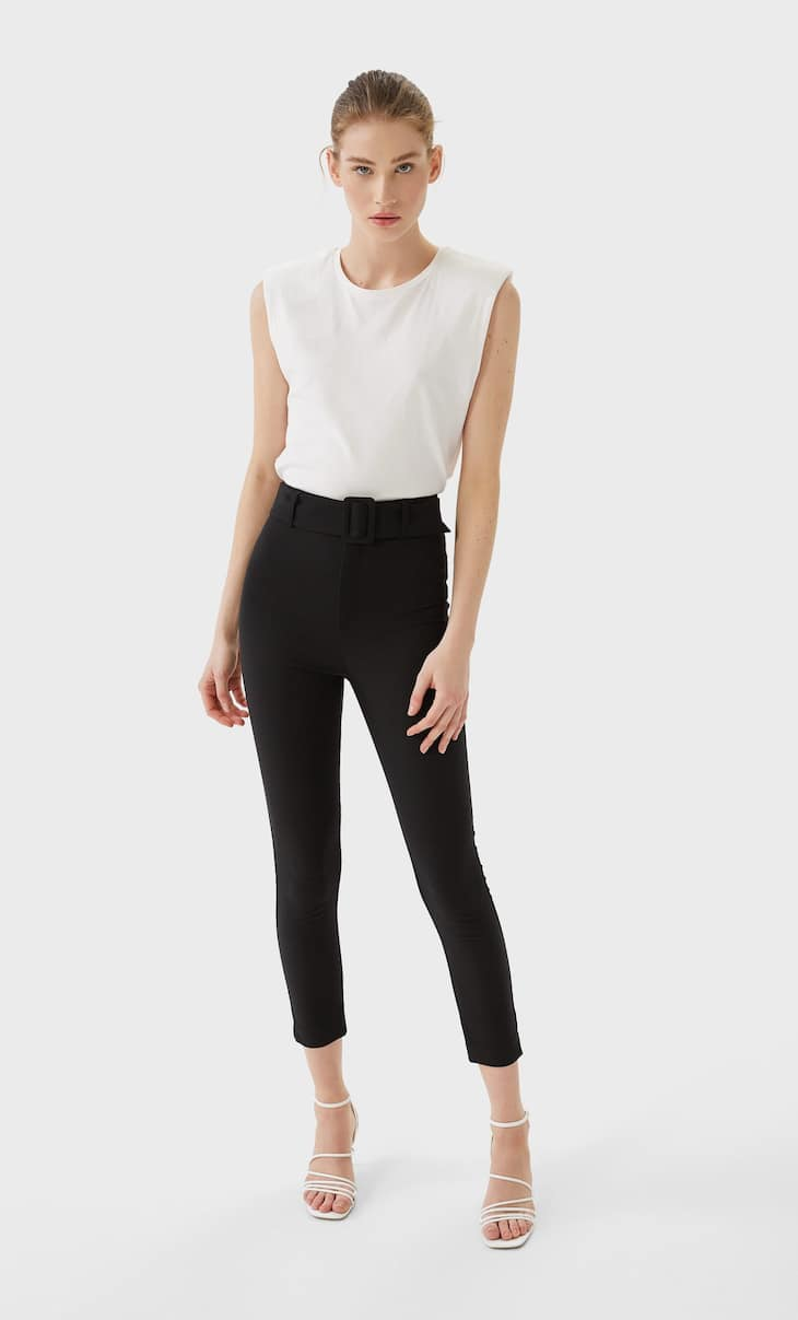 Cigarette fit trousers
