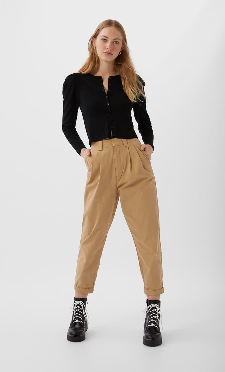 Pantalon slouchy à pinces