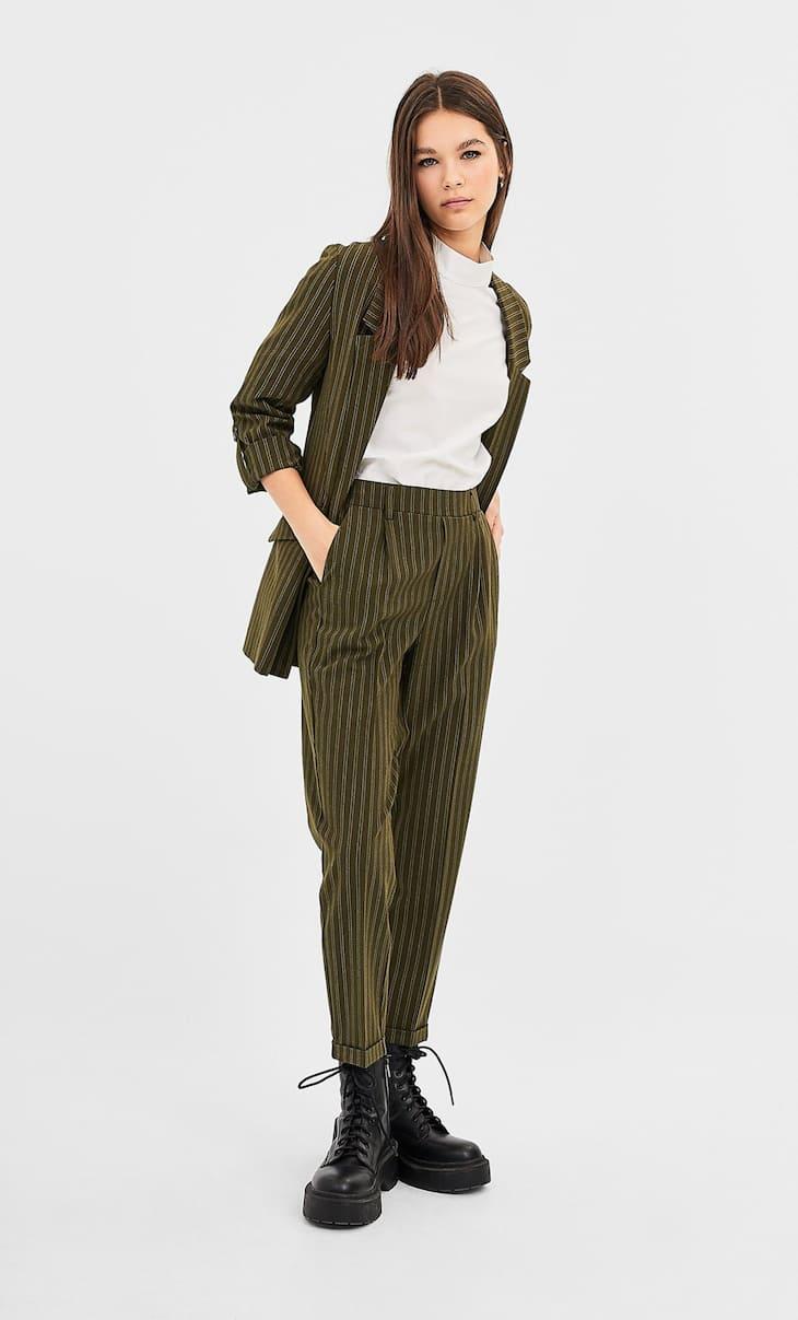 Pantalón tailoring slim fit rayas