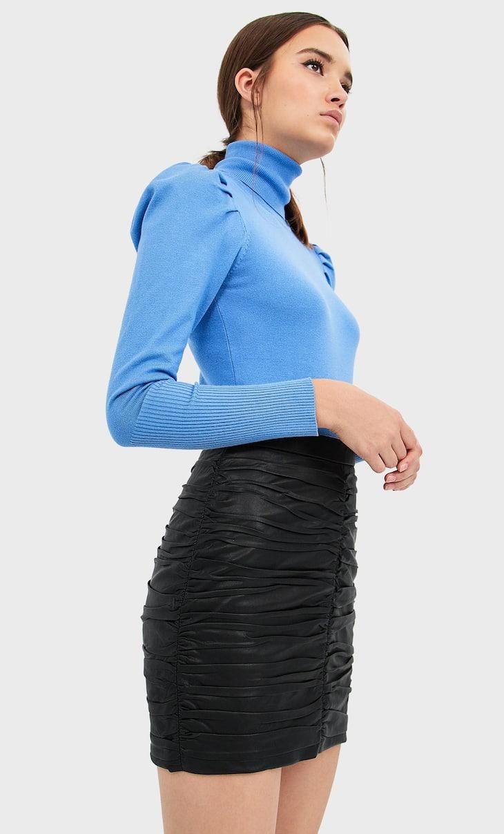 Мини-юбка из искусственной кожи