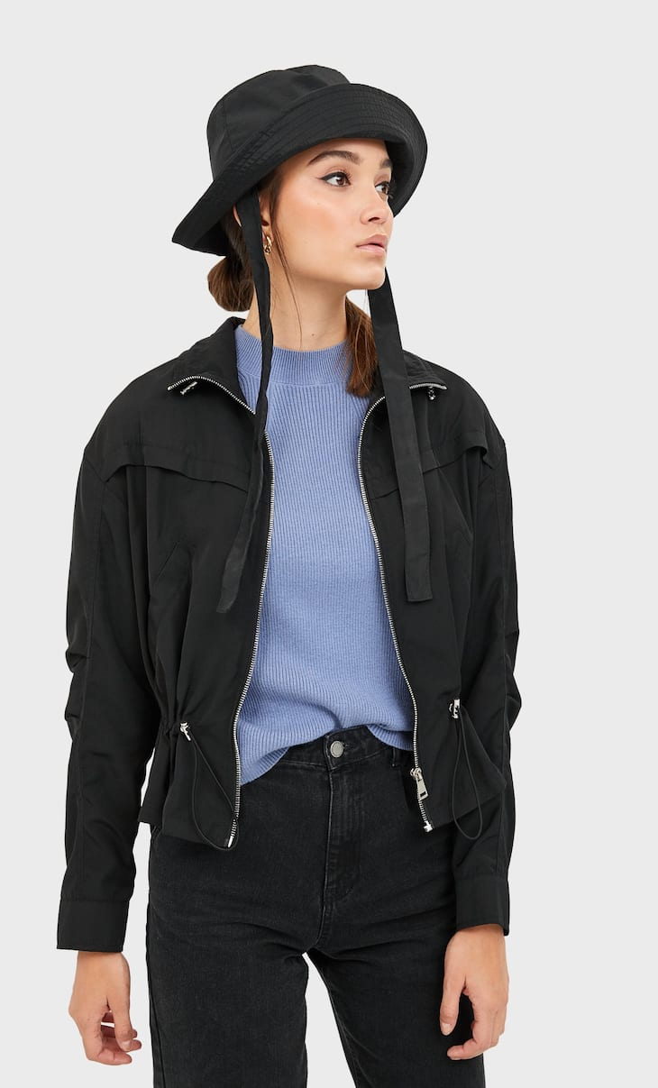 Nylon technical jacket