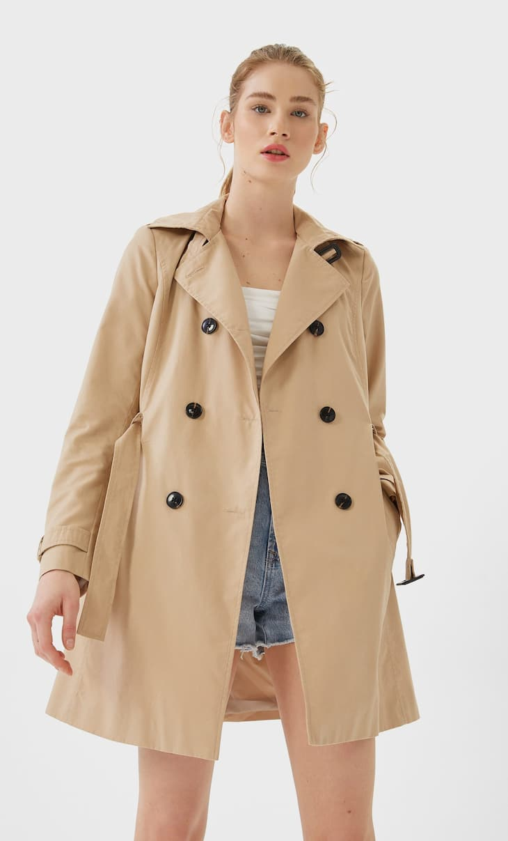 Trench collo a revers