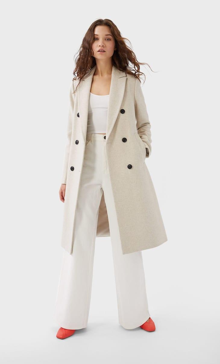 Manteau basique style caban