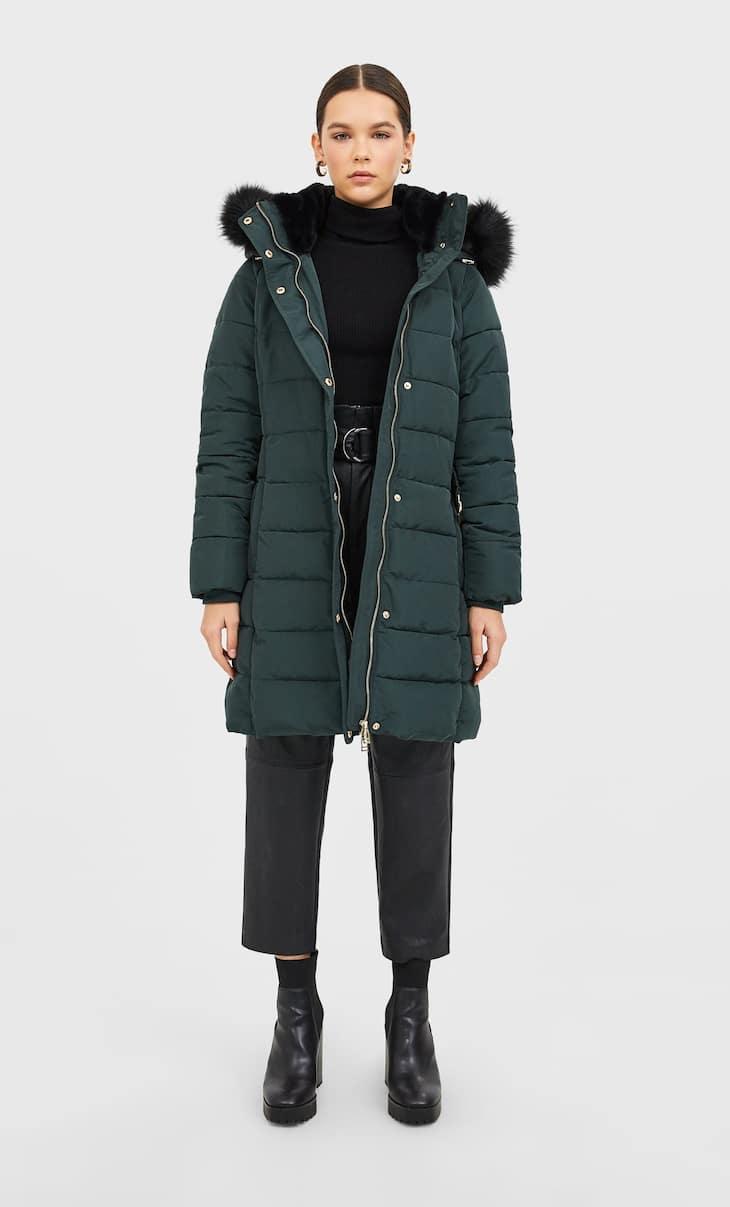 Manteau matelassé à ceinture