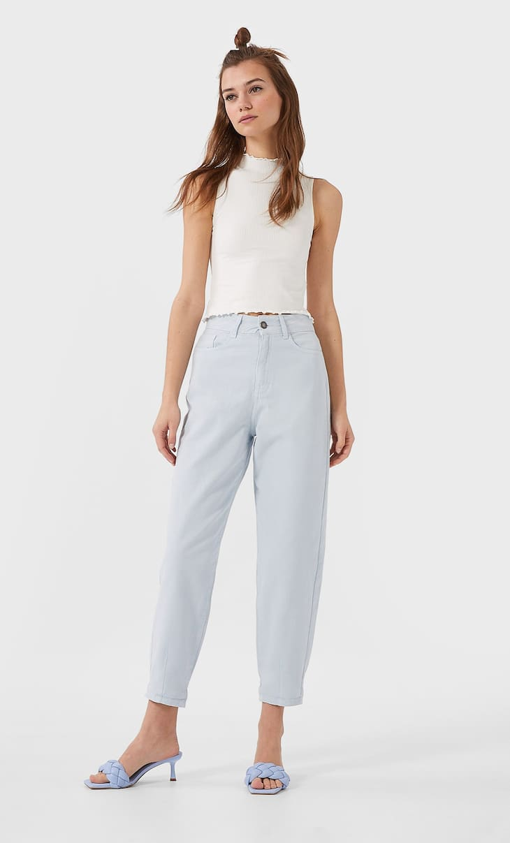 Slim slouchy trousers