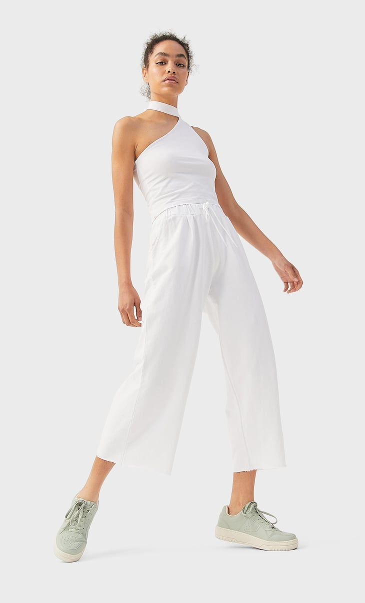 Culotte-Hose aus feinem Sweatstoff