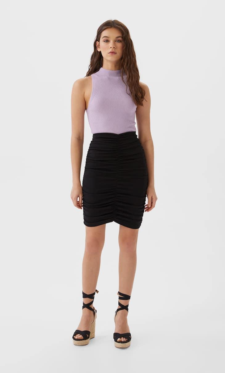 Мини-юбка со сборками