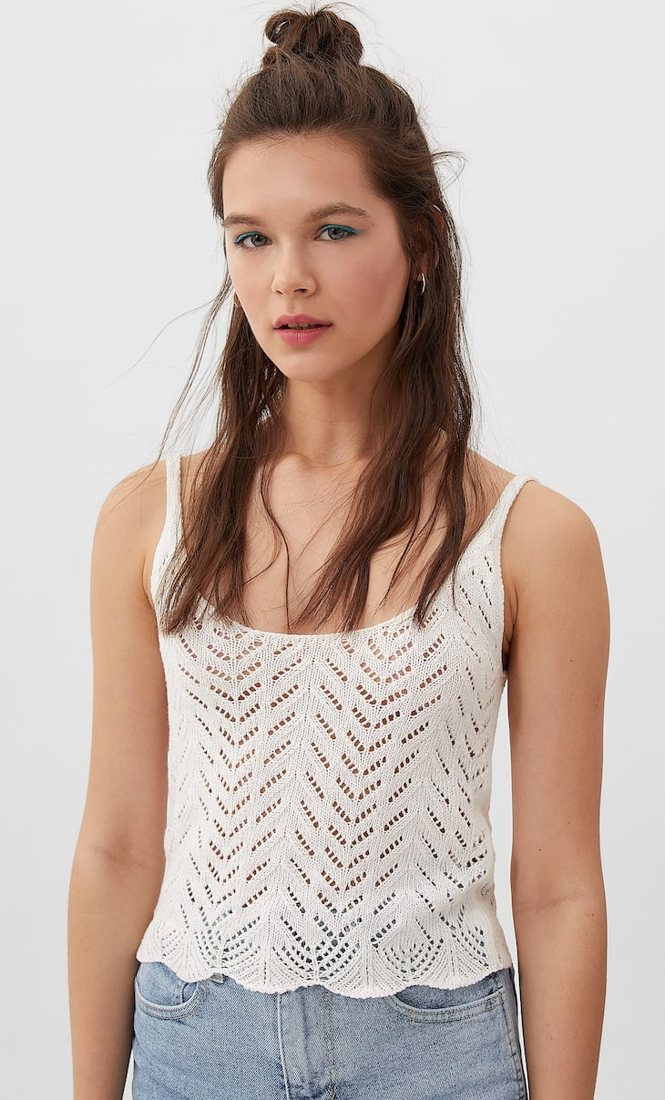 Herringbone crochet  top