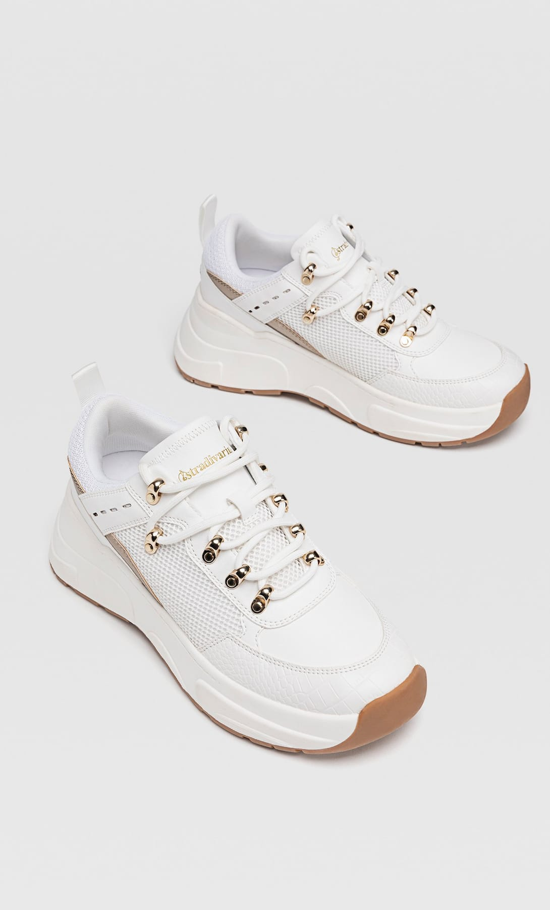 Maxi sole trainers with gold details