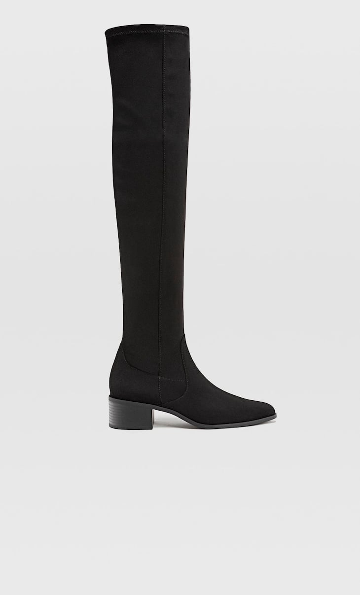 Over-the-knee high heel boots