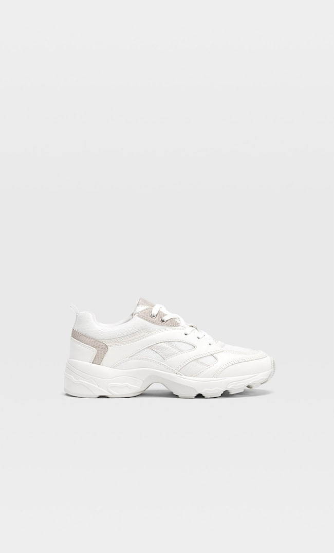 Chunky sole trainers with trims - Women
