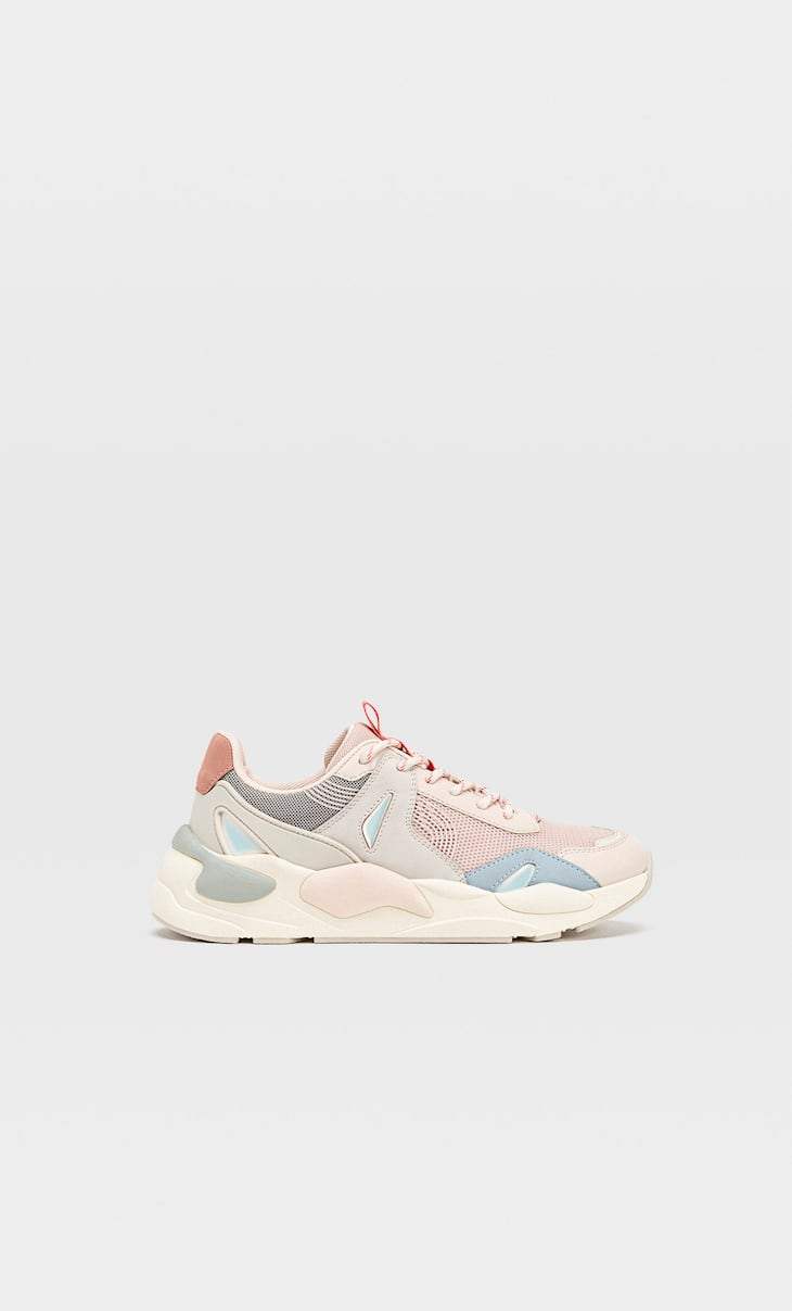 Multicoloured chunky maxisole trainers