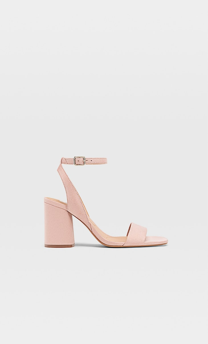 High-heel sandals with ankle strap