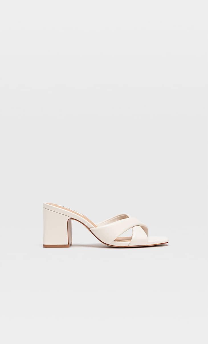 Padded heeled sandals