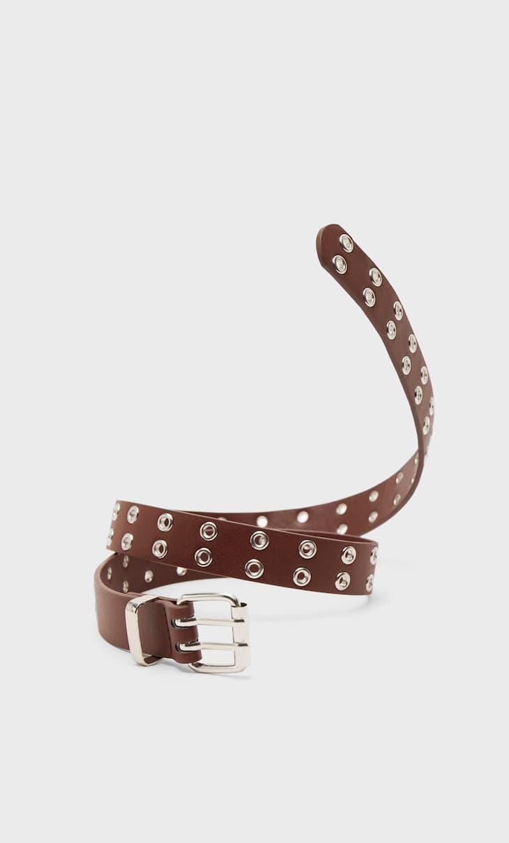 Thin belt with eyelets