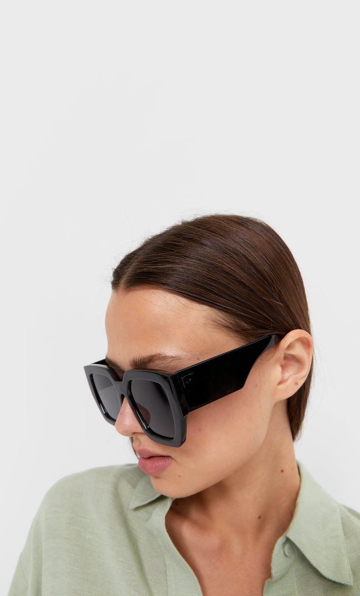 Óculos quadrados padrão tartaruga