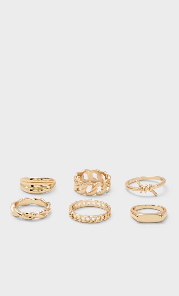Set 6 anillos nudo