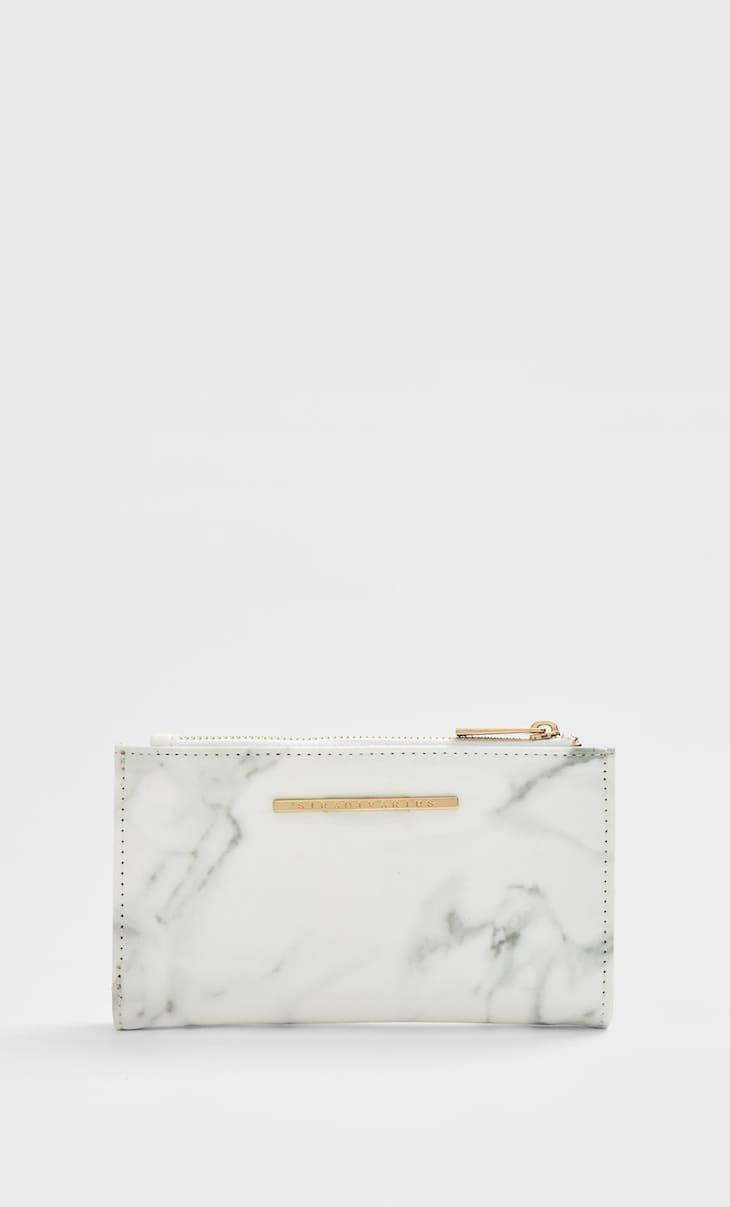 Basic marble effect purse