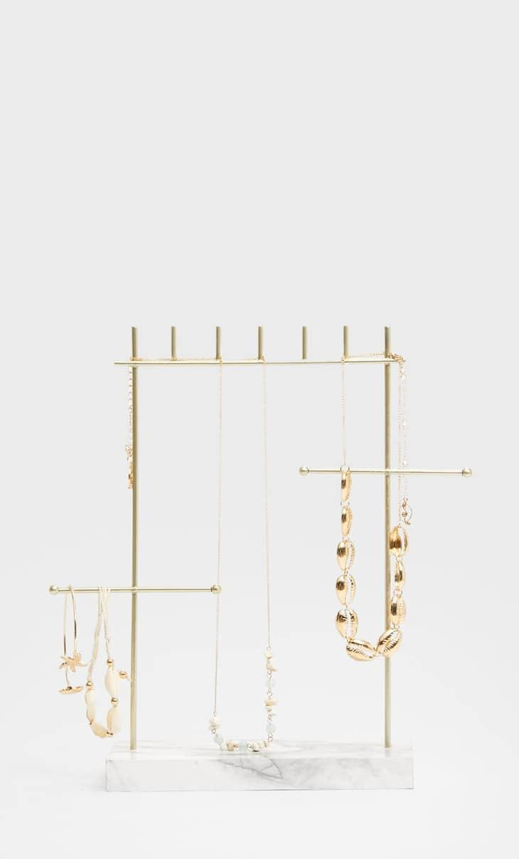 Minimalist marble jewellery stand