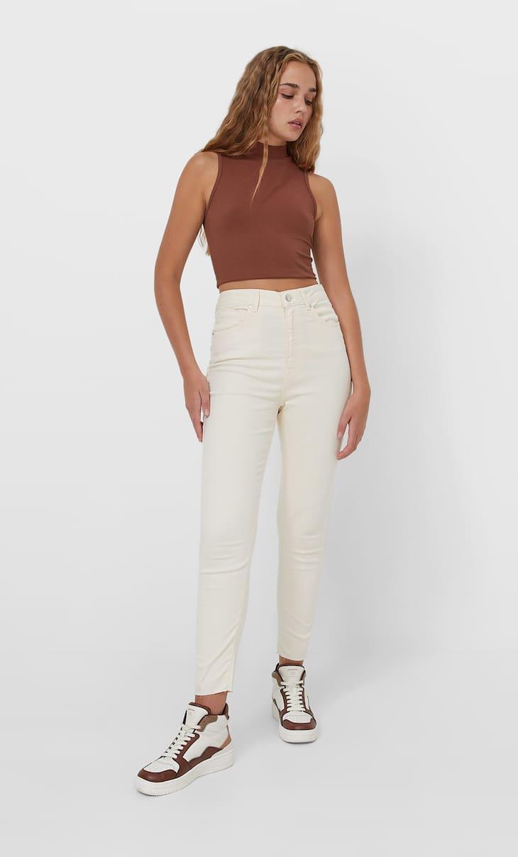 Super high-waist skinny jeans