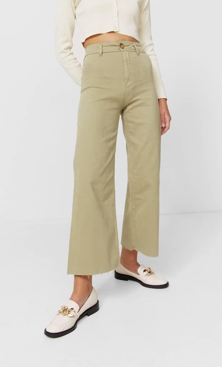 Seamless twill culottes