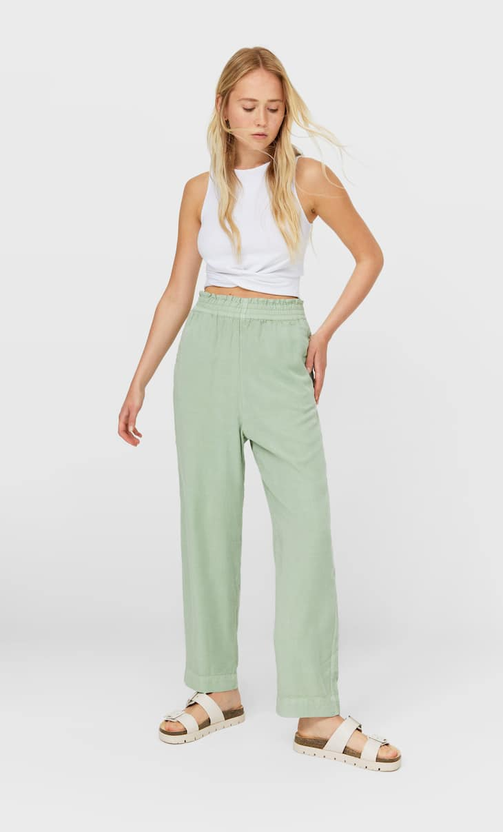 Baggy lyocell trousers